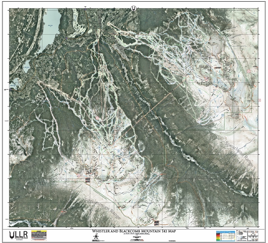 Whistler and Blackcomb Mountain Ski Map